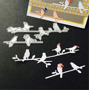 Stanzschablone-Vogel-Hochzeit-Weihnachten-Neujahr-Oster-Geburtstag-Karte-Album