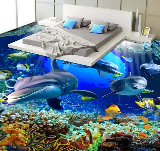 3D Sea World 6 Floor WallPaper Murals Wall Print Decal 5D AJ WALLPAPER