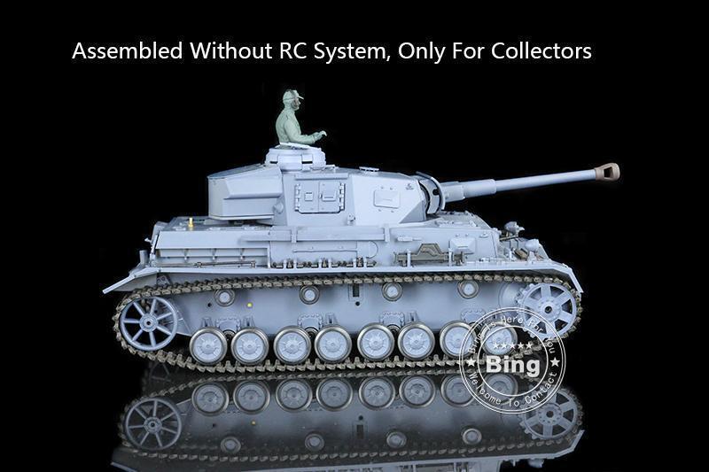 Escala 1 16 henglong plástico Panzer IV F2 Tanque Estático Modelo 3859 con sistema de RC o