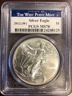 2012-W Silver Eagle MS70 PCGS SE:34