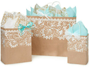 BOHEMIAN SWIRLS Design Party Gift Paper Bag ONLY Choose Size /& Pack Amount