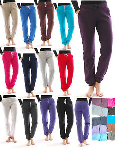 Jogging Hose innen Fleece Taschen Sport Leggings lang Baumwolle Thermo Fitness