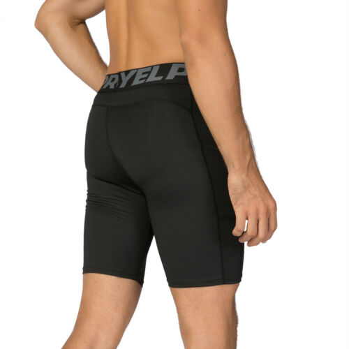 Details about  /3 Pack Men Compression Shorts Active Workout Underwear with Pocket A4Y1