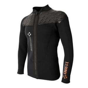 Mens-3mm-Wetsuits-Jacket-Long-Sleeve-Warm-Neoprene-Wetsuits-Top-Surfing-Suit