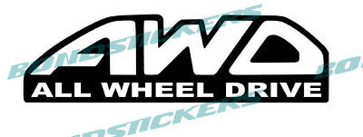 Vinilo de corte Pegatina AWD ALL WHEEL DRIVE STICKER DECAL VARIOS COLORES SUBARU