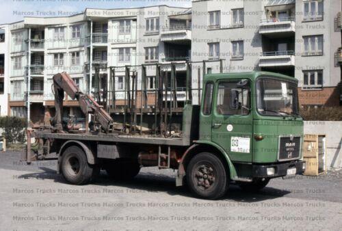 Foto camiones MAN f8 motor carro con ladekran Berlin 10x15cm//lf239