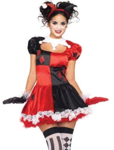 Harley Quinn Harlequin Clown Jester Costume