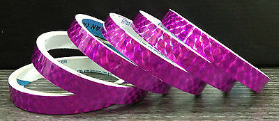 3//4 in Silver Holographic Colored Prism TAPE Reflective 7 Color 6x 3 yards 18y