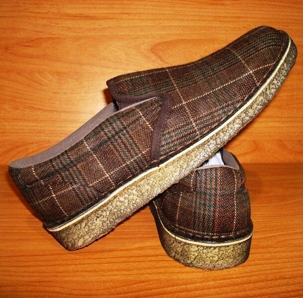 CLARKS ORIGINAL DESERT FOX SIZE 8.5 MEN BROWN BOX PLAID BRAND NEW IN BOX BROWN US SIZE c5cefc