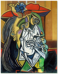The Weeping Woman - Hand Painted Pablo Picasso Cubist Oil ...