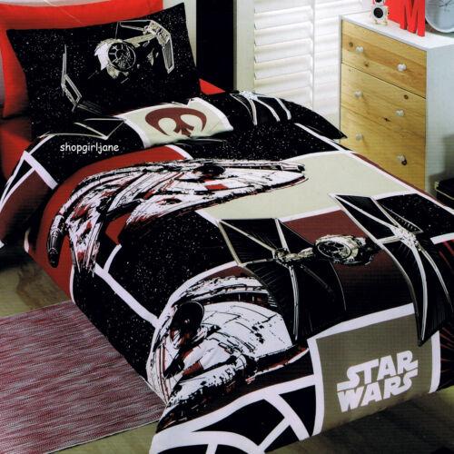 Star Wars SW7 Patch Disney Single//US Twin Bed Quilt Doona Duvet Cover set