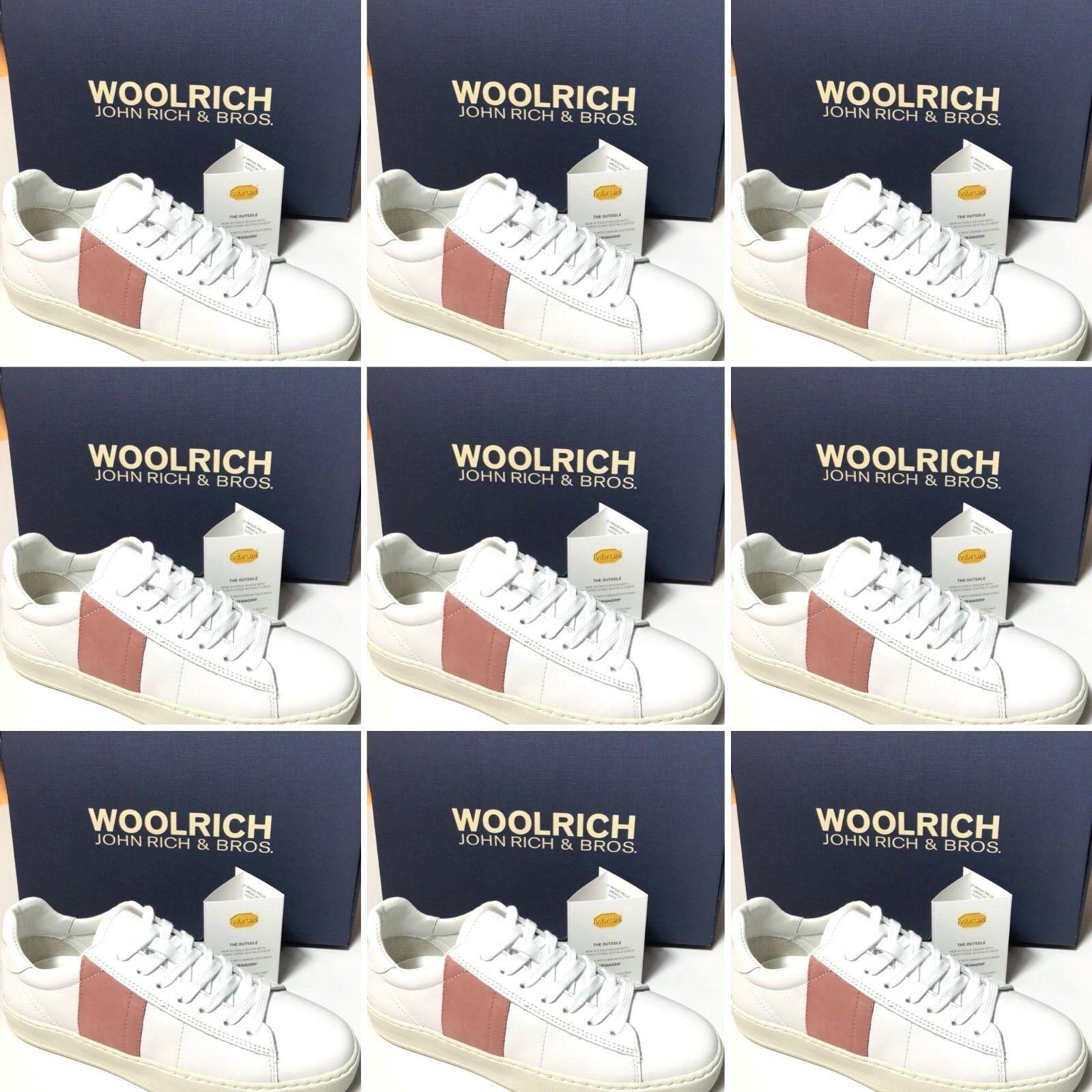 Woolrich Chaussures pour femmes basket ART. W2130W420 leather blanc blanc blanc rose Court b7ec93