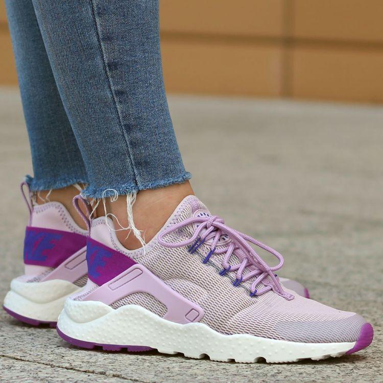 Nike Air Huarache Run Ultra Lilac Running Trainers BN 819151 501