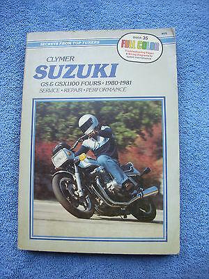 1979-1990 CLYMER SUZUKI MOTORCYCLE GS1100 FOURS SERVICE MANUAL M378