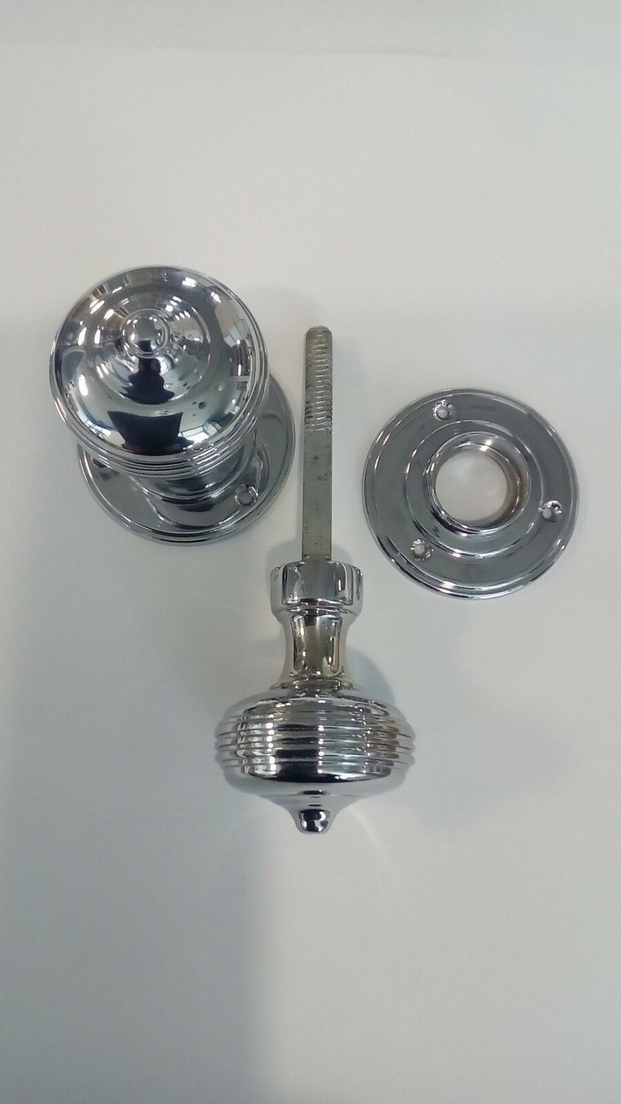 Queen Anne Mortice Knobs Polished Chrome WA PRODUCTS