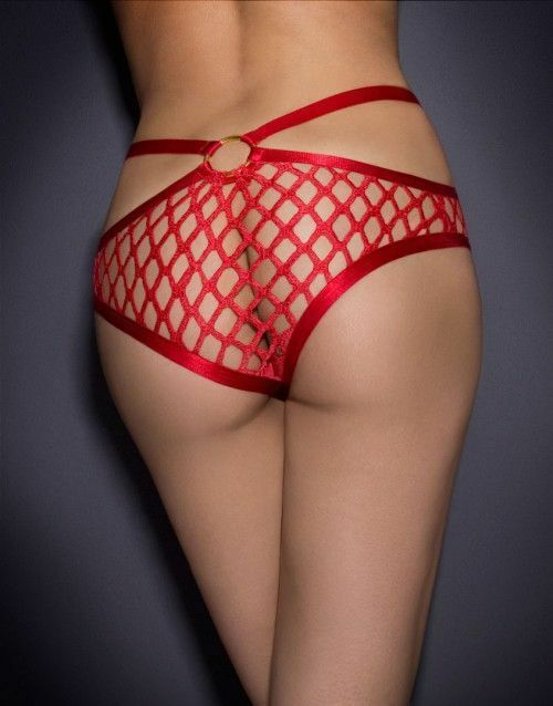 AGENT PROVOCATEUR RARE RED BUBBLES BRIEF SIZE 3 MEDIUM BNWT