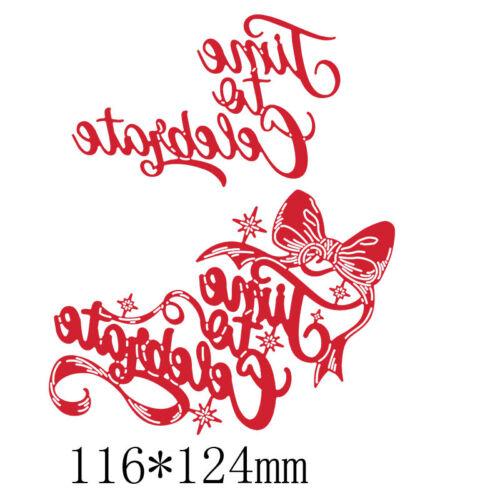 De Navidad saludos mejores deseos Metal Corte muere Stencil Artesanía Álbum de grabación en relieve