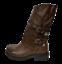 Stiefel-Frau-Niedrig-Biker-Boots-Stiefeletten-Schnallen-Militarschuhe-Schwarz miniature 7