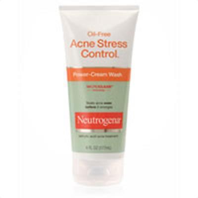 Neutrogena Oil Free Acne Stress Control Power Cream Face Wash - 6 Oz