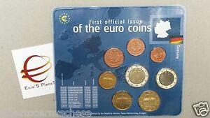 2002 zecca F 8 monete 3,88 euro Germania Allemagne Alemania Deutschland Germany