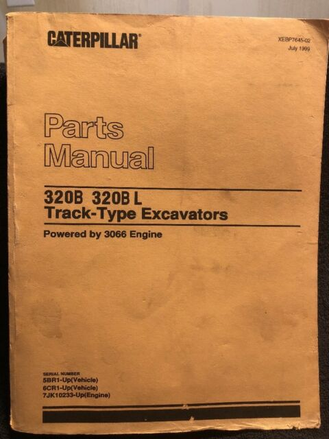 CAT Caterpillar 320b L Excavator Parts Manual Book Catalog Trackhoe Crawler  List