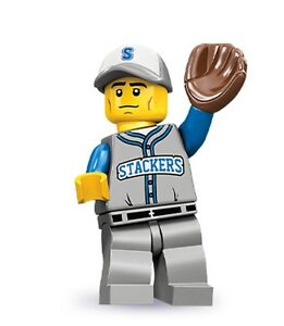 Lego collectible minifig series 10 Baseball Fielder with a glove