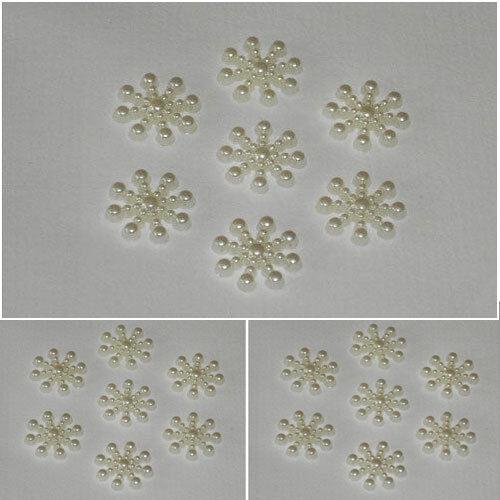 15mm Ivory Acrylic flat back snowflakes Cardmaking// Scrapbooking// Frozen