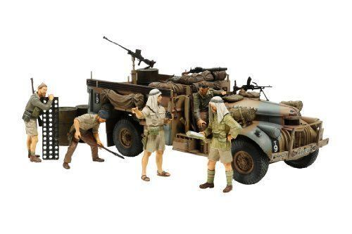 TAMIYA 1 35 British LRDG Command Car North Africa w 7 Figures Model Kit NEW