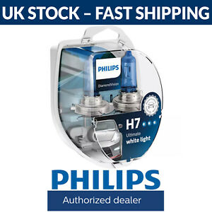 Philips Diamond Vision 5000K H7 Car Headlight Bulbs (Twin Pack) 12972DVS2