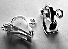 100 SILVER PLATED CLIPON CLIP ON EARRING FINDINGS