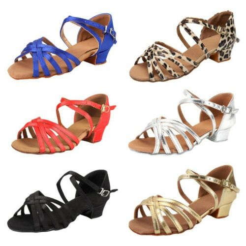 Womens Ladies Ballroom Latin Tango Dance Shoes Heel Salsa Sandals Party Shoes