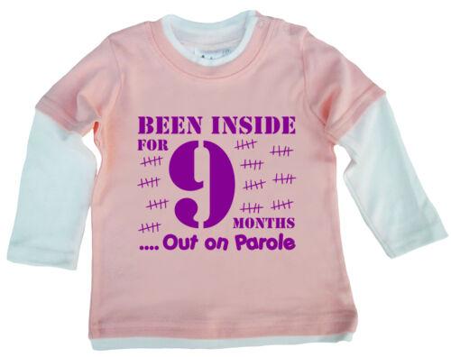 """Dirty Fingers patineuse top /""""bébé été à l/'intérieur pour 9 mois en liberté conditionnelle/"""" drôle"""