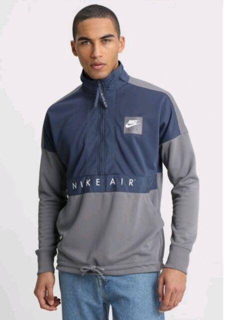 9a514649ec03 L Nike Men Sportswear Nike Air 1 2 Zip Pullover Top Jacket BLUE GRAY 918324