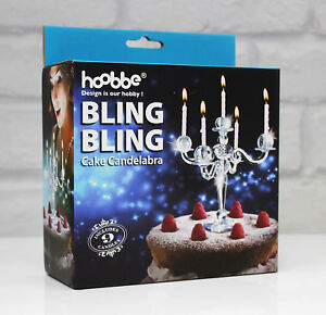 Image Is Loading Cake Candelabra Bling Candle Stand Hoobbe Birthday