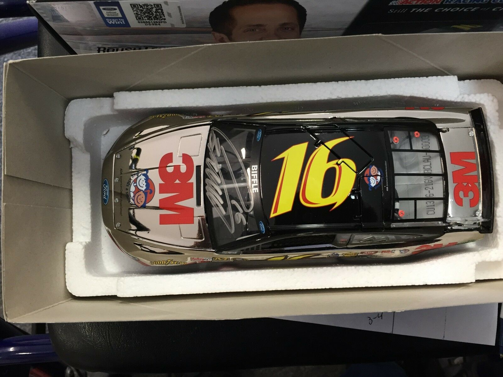 1 24 ACTION Greg Biffle '13 Fusion Give Kids A Smile 1 of 24 Autographed