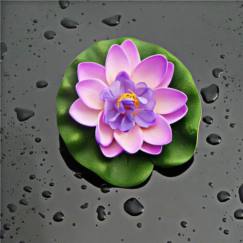 1PC Artificial Lotus Leaf Floating Water Lily Flower Plants Pond Pool Decoration