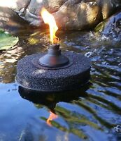 Floating Citronella Tiki Torch-black 9-koi-ponds/pools-water Gardens-night Fire