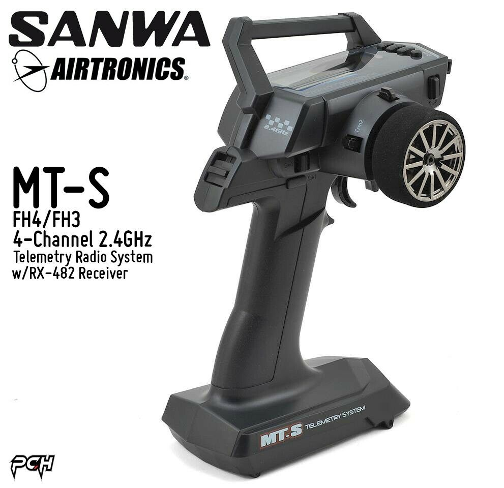 SANWA AIRTRONICS MT-S FH4 FH3 4-Ch 2.4GHz Telemetry Radio System SNW101A31973A