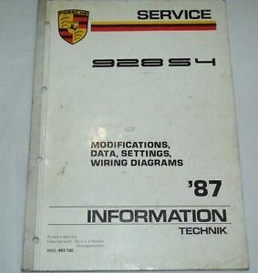 image is loading technik-1987-porsche-928-s4-wiring-diagram-owners-
