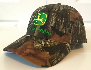 John Deere Mossy Oak Camo All Fabric Hat Cap W Vintage Logo