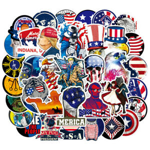 Lot-100-USA-Vinyl-Laptop-Skateboard-Stickers-bomb-Luggage-Decals-Dope-Sticker