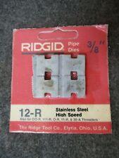 Ridgid 38 Pipe Threader Replacement Die Set 12 R 00 R 111 R O R 11 R 30a