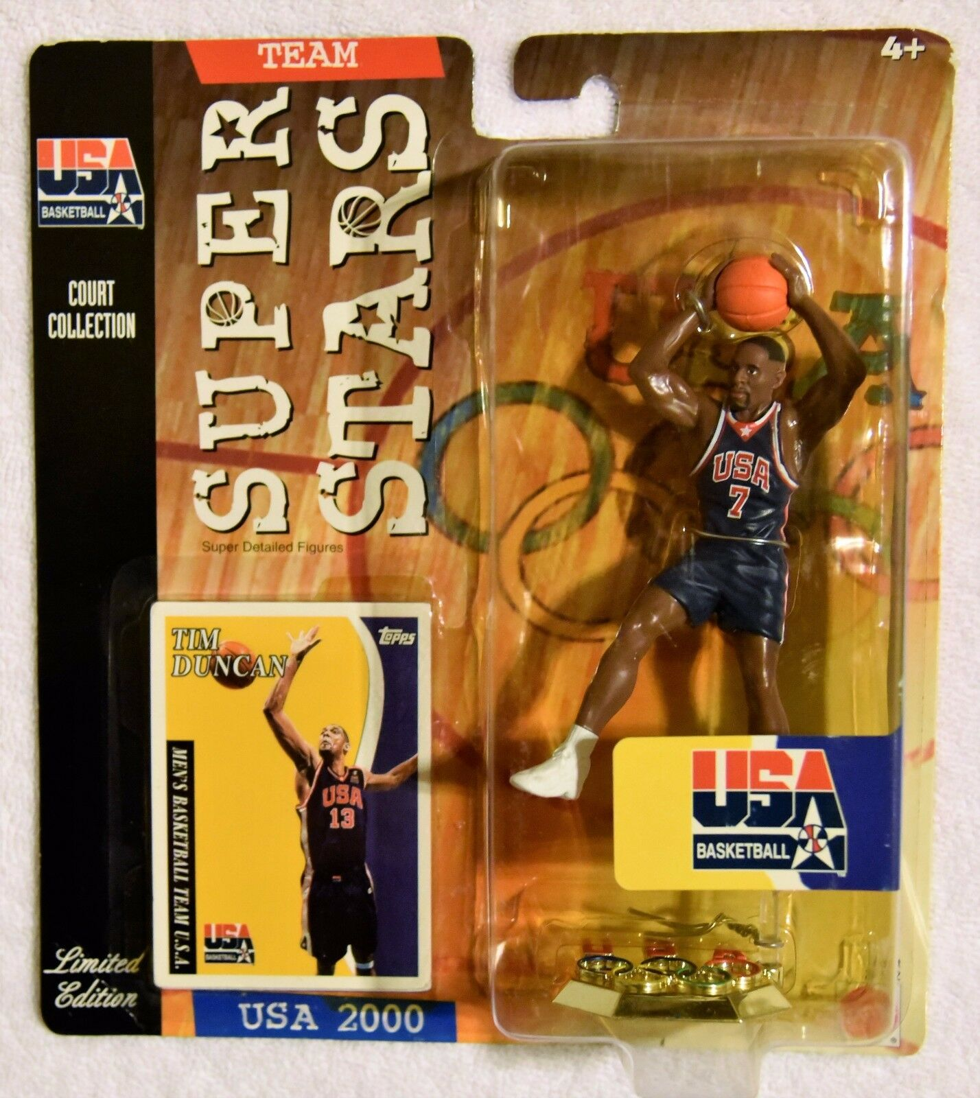 USA Basketball 2000 ALONZO MOURNING w/ Tim Duncan Card Limited Edition Gelbing