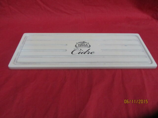 Stella Cider Rare Washed Look Wooden Bar Drip Tray & 2 pint glasses cidre glass