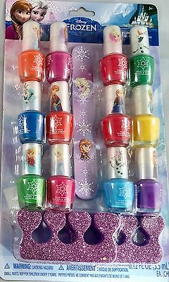 Disney Frozen lovely 12 nail polish set with nail file & toe spacer