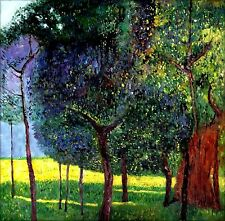 Gustav Klimt Fruit Trees  Repro, Quality Hand Painted Oil Painting 36x36in