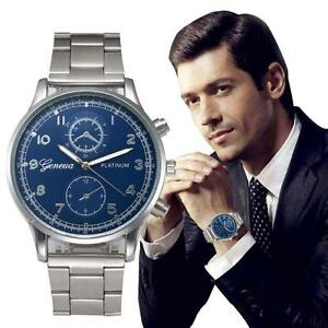 Mode-Herren-Damen-Neu-Armbanduhr-Edelstahl-Analog-Quarz-Sport-Armbanduhr