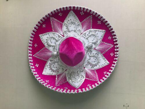 "CHARRO MEXICAN MARIACHI HAT COSTUME HOT PINK 22/"" ONE SIZE SOMBRERO"