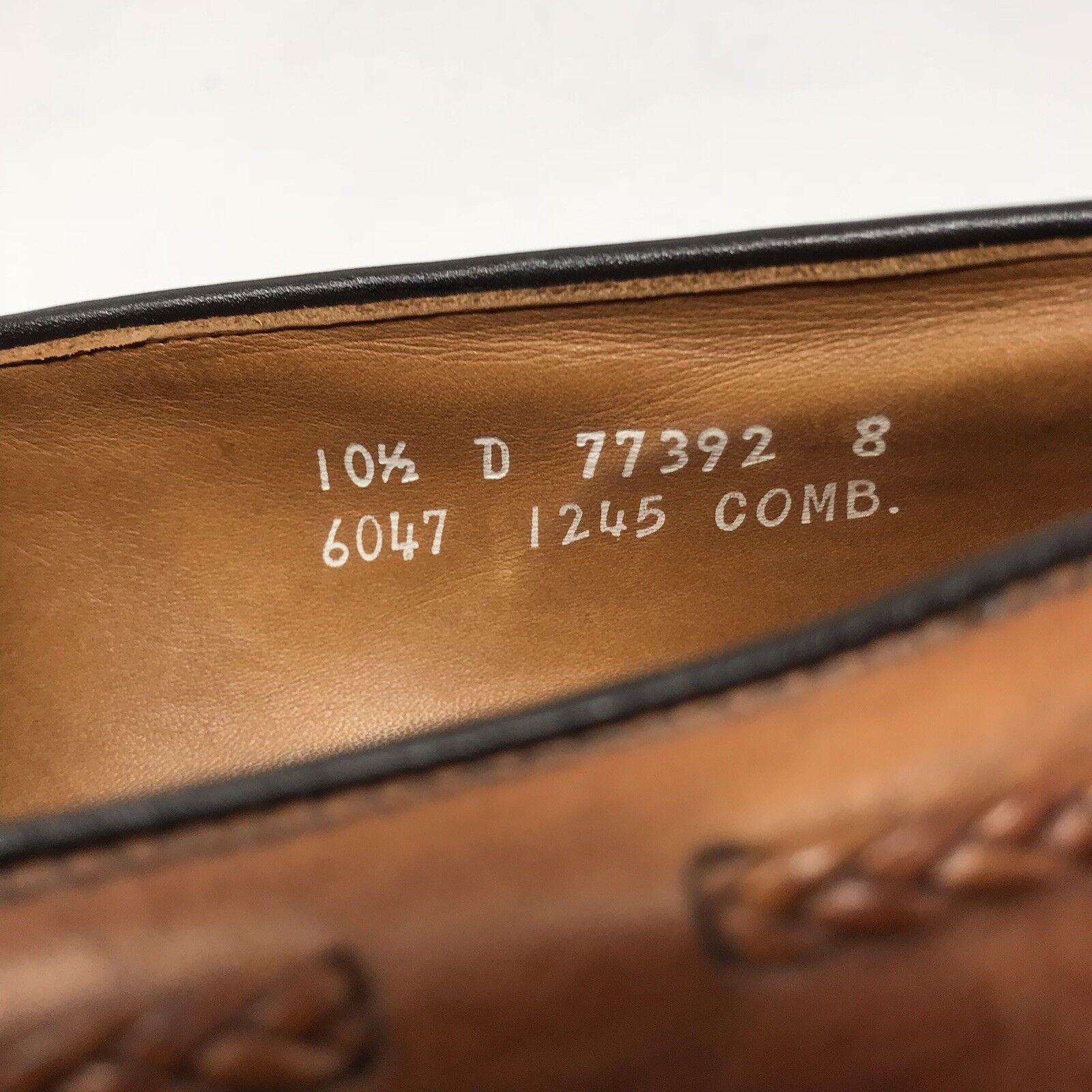 Allen Edmonds Bradenton braun braun braun Leather Tassel Kiltie Brogue Loafers schuhe 10.5 4140eb