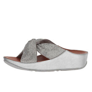 87c9d373374 Fitflop TWISS CRYSTAL SLIDE Silver Women s Arch Support Sandals R44 ...